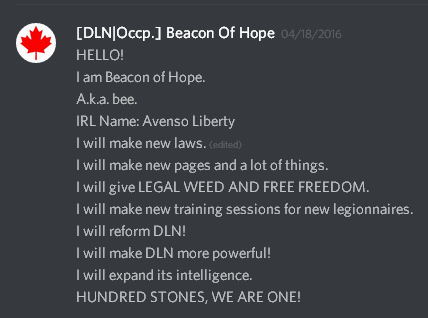 Beacon's speech